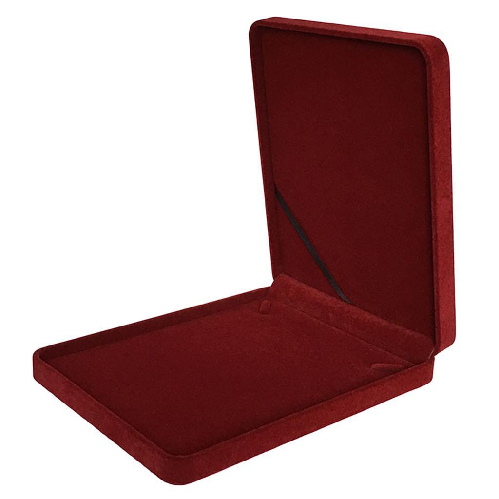 Portable-Velours-Collier-Boite-Chaine-Vitrine-Boite-cadeau-Voyage-Bijoux miniature 6