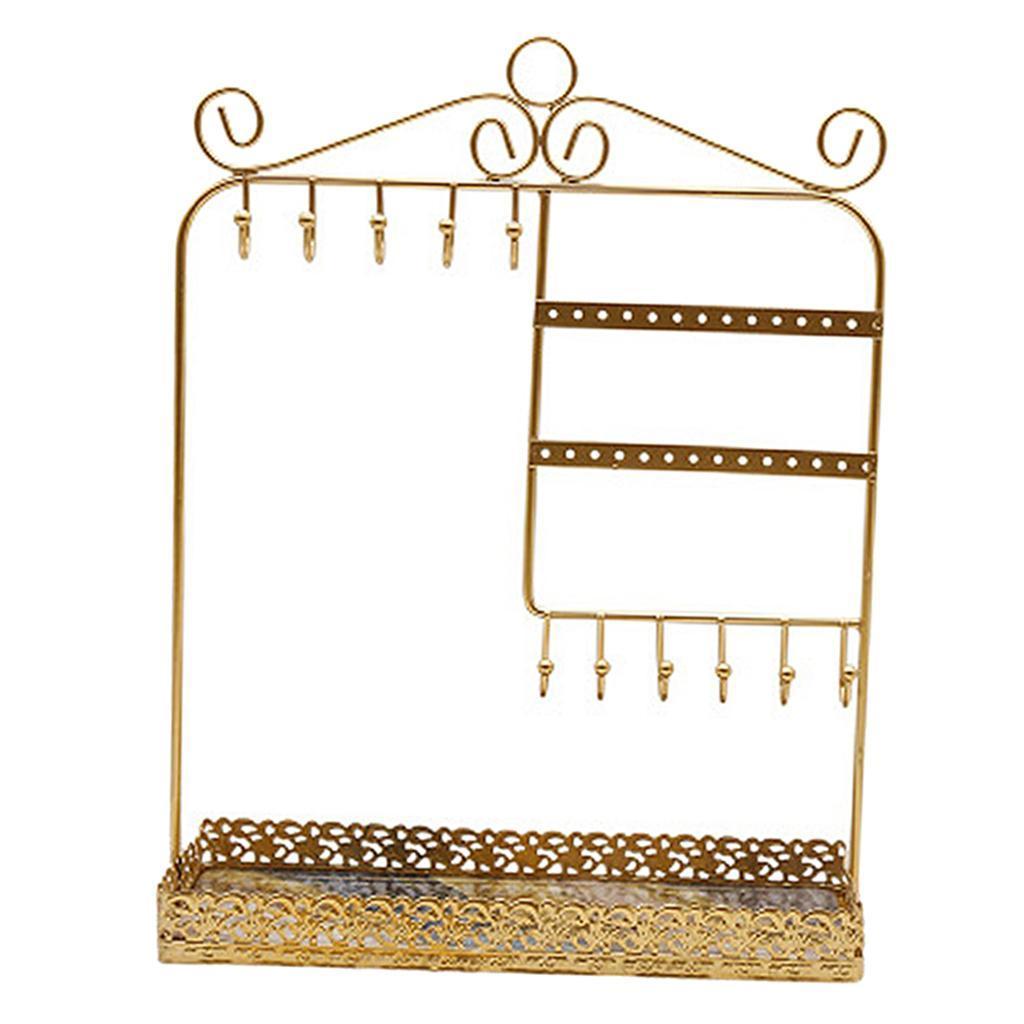 Indexbild 9 - Alle-in-1 Ohrring Halskette Schmuck Display Zeigen Rack Metall Ständer Halter