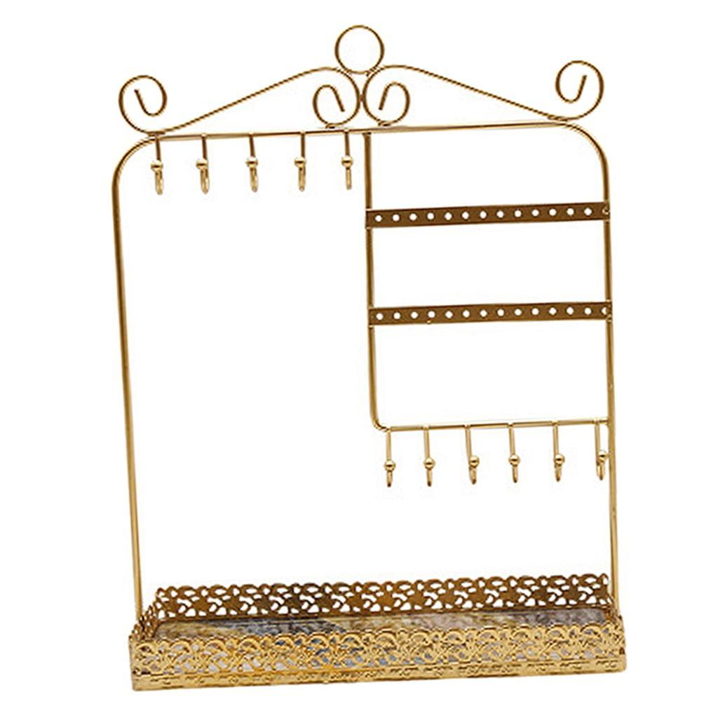 Indexbild 10 - Alle-in-1 Ohrring Halskette Schmuck Display Zeigen Rack Metall Ständer Halter