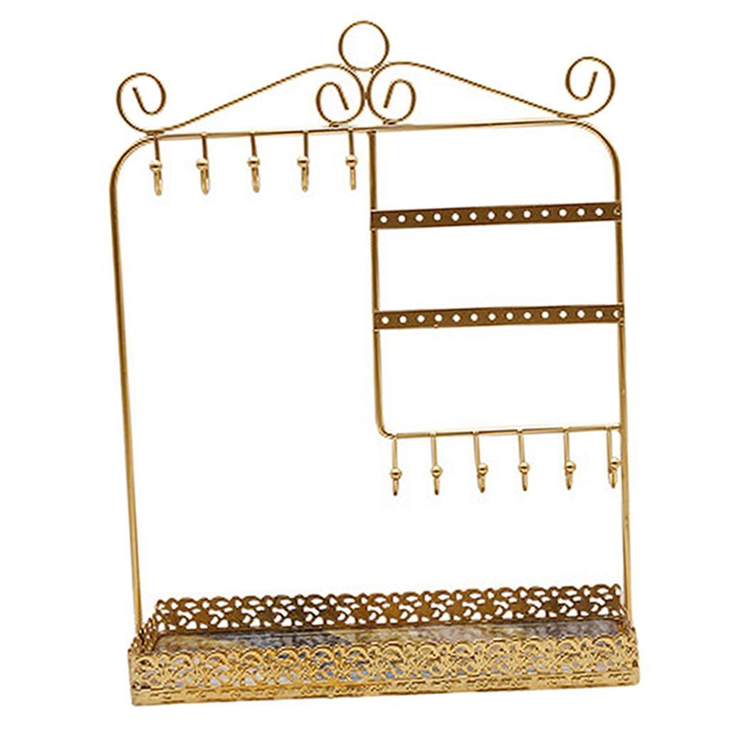 Indexbild 11 - Alle-in-1 Ohrring Halskette Schmuck Display Zeigen Rack Metall Ständer Halter
