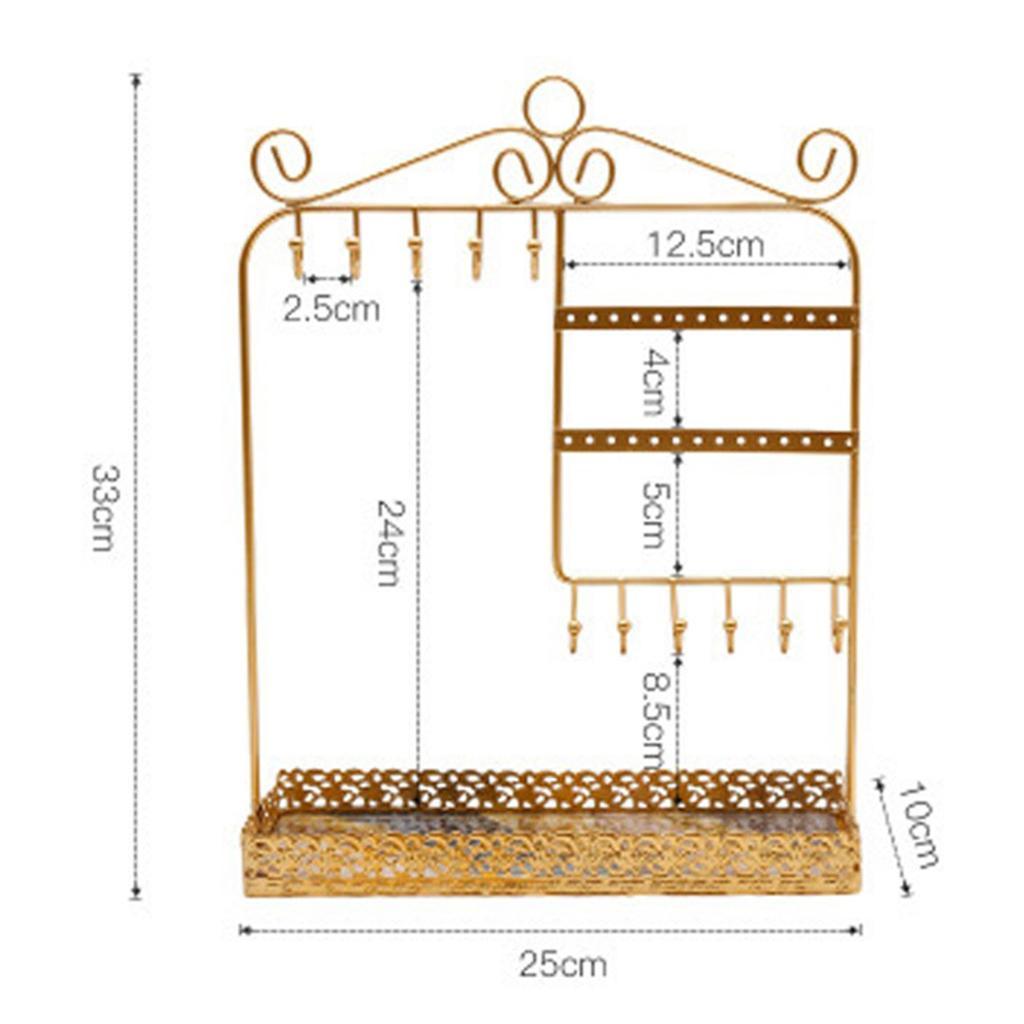 Indexbild 12 - Alle-in-1 Ohrring Halskette Schmuck Display Zeigen Rack Metall Ständer Halter