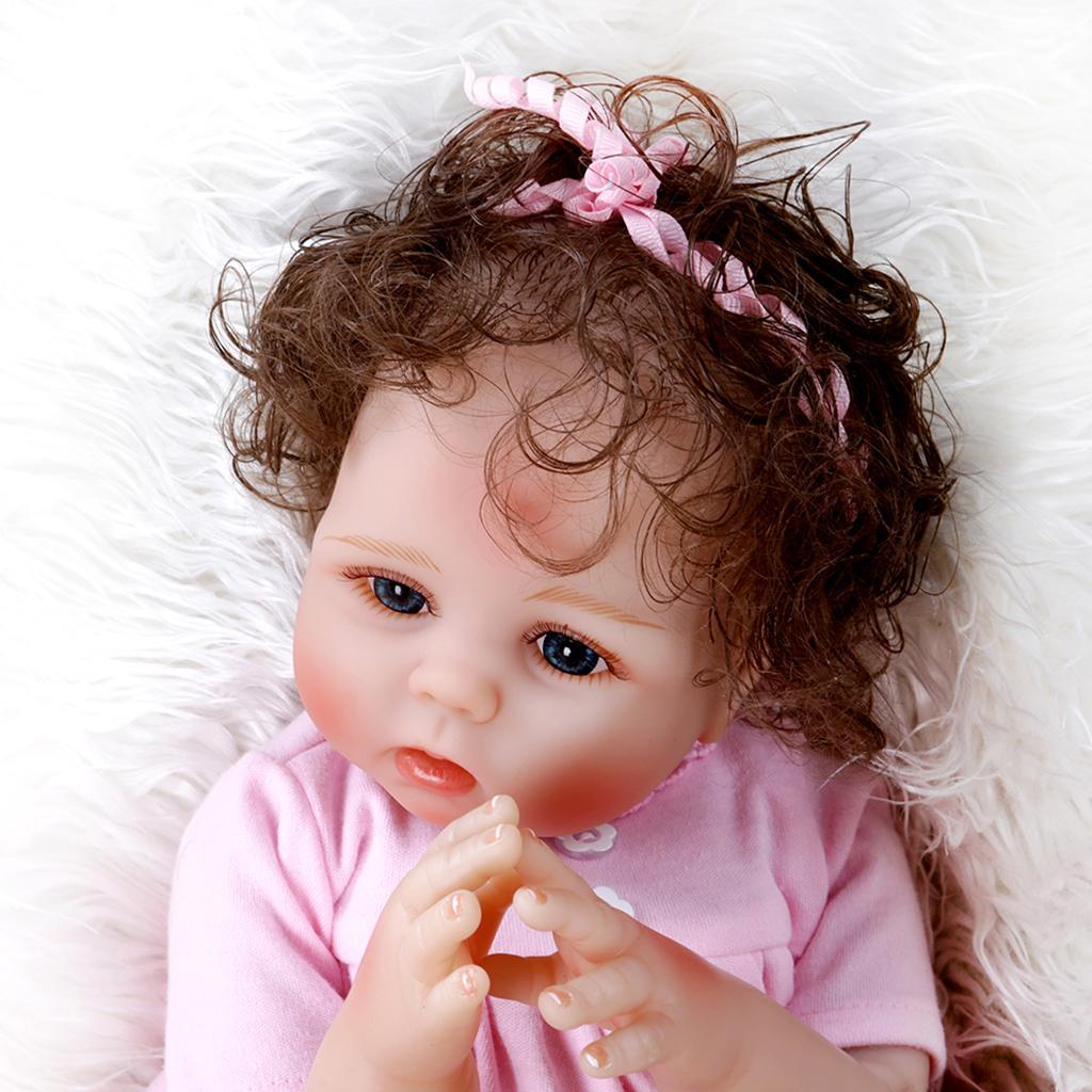 19-inch-Realistic-Babies-Dolls-Girls-Soft-Vinyl-Silicone-Kids-Gifts-Age-3 thumbnail 16