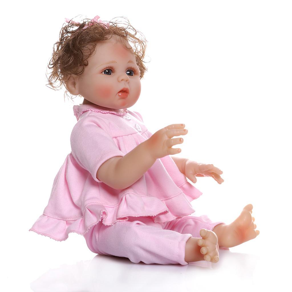 19-inch-Realistic-Babies-Dolls-Girls-Soft-Vinyl-Silicone-Kids-Gifts-Age-3 thumbnail 15