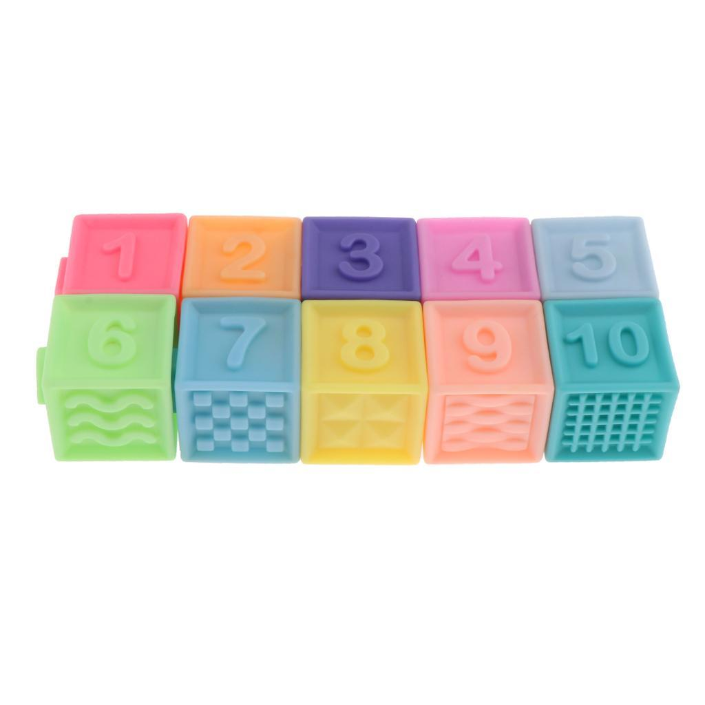 thumbnail 4 - Cartoon Baby Grasp Building Blocks 3D Embossed Touch Stacking Balls Squeeze