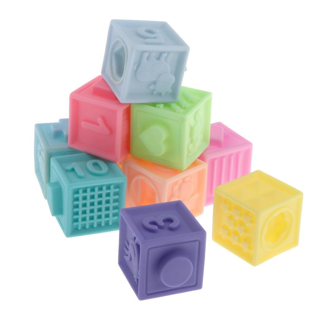 thumbnail 5 - Cartoon Baby Grasp Building Blocks 3D Embossed Touch Stacking Balls Squeeze