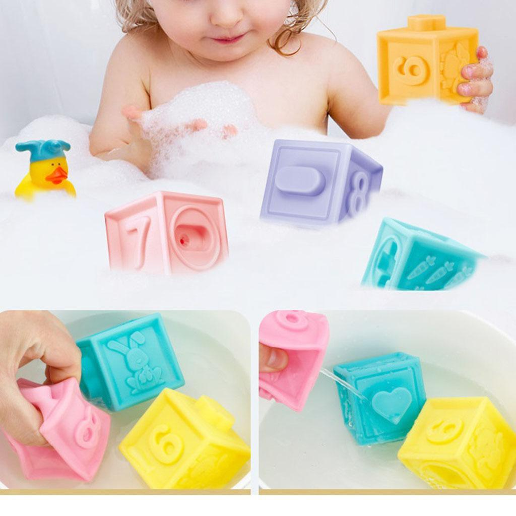 thumbnail 7 - Cartoon Baby Grasp Touch Hand Soft Stacking Balls Baby Bath Puzzle Gifts