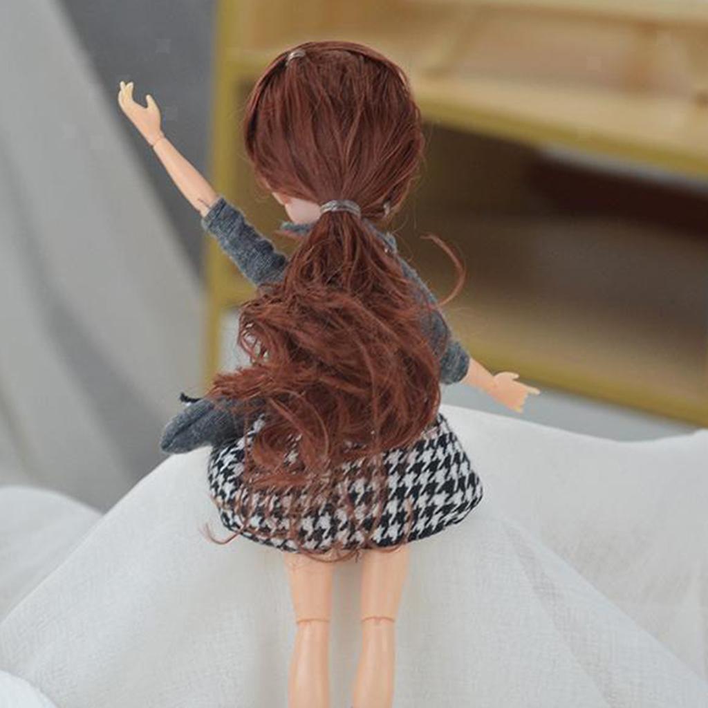 11-Joints-30cm-BJD-Doll-Cute-Dress-Up-3D-Big-Eyes-Girls-Princess-Doll-Toys thumbnail 11
