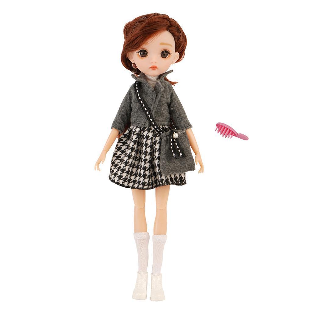 11-Joints-30cm-BJD-Doll-Cute-Dress-Up-3D-Big-Eyes-Girls-Princess-Doll-Toys thumbnail 4