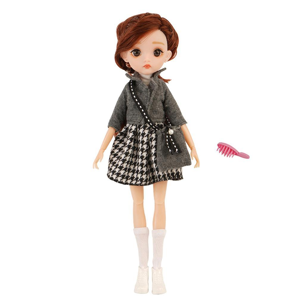 11-Joints-30cm-BJD-Doll-Cute-Dress-Up-3D-Big-Eyes-Girls-Princess-Doll-Toys thumbnail 5