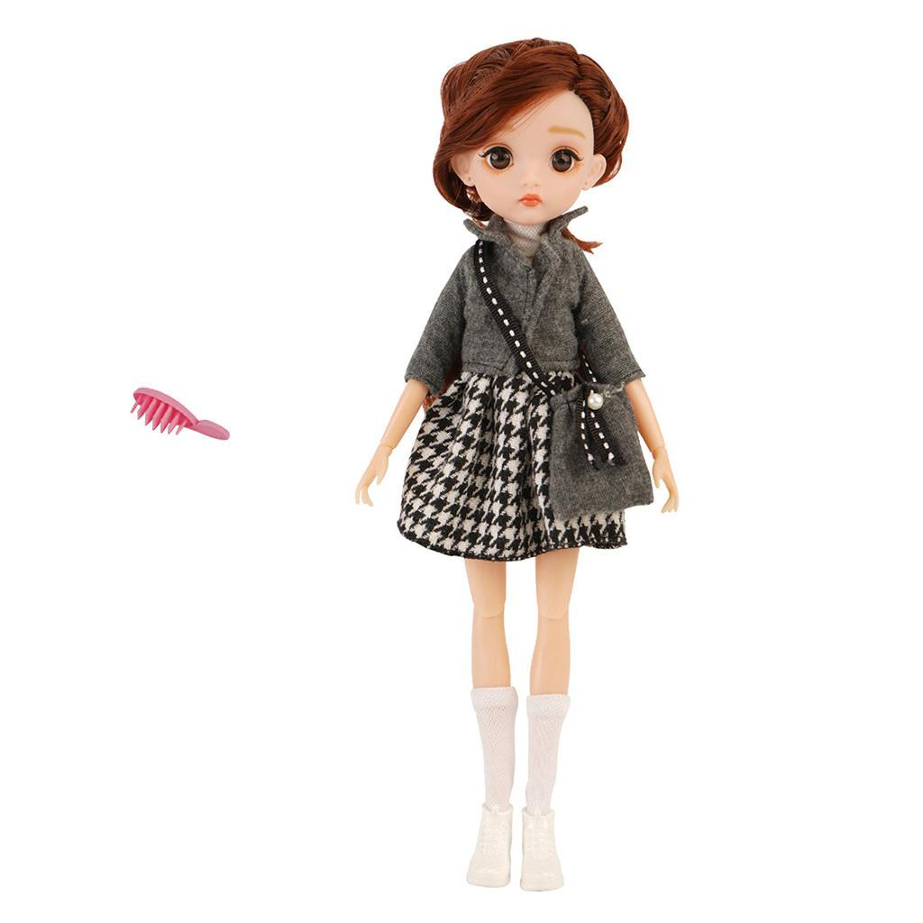 11-Joints-30cm-BJD-Doll-Cute-Dress-Up-3D-Big-Eyes-Girls-Princess-Doll-Toys thumbnail 7