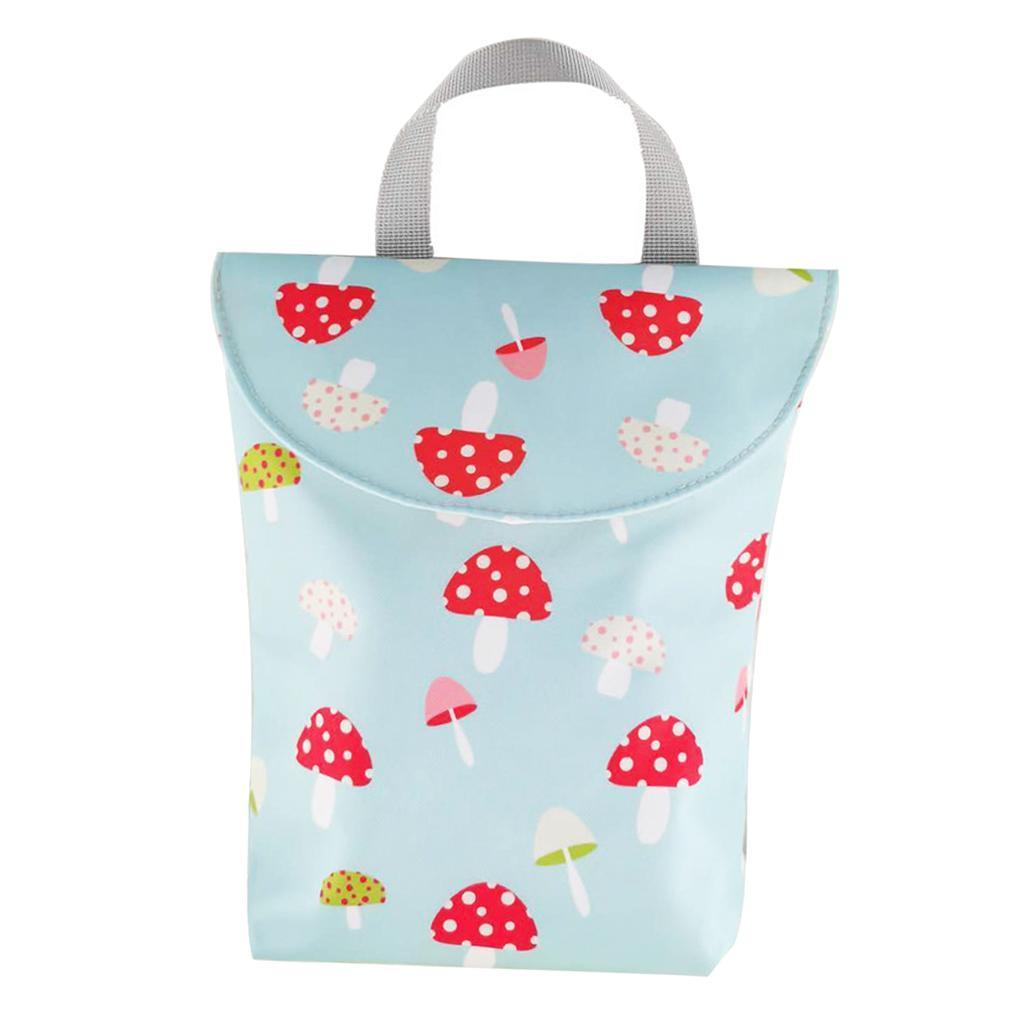Baby-Diaper-Bag-Organizer-Fashion-Prints-Mummy-Storage-Bag-Outdoor-Reusable miniature 19