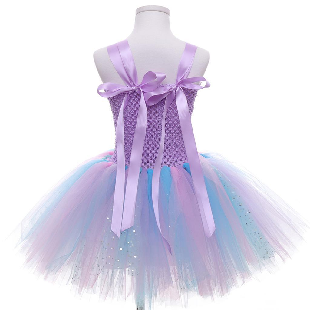 thumbnail 35 - Mermaid Tutu Dress Cosplay Kids Mermaid Costume 3 4 5 6 Years Old
