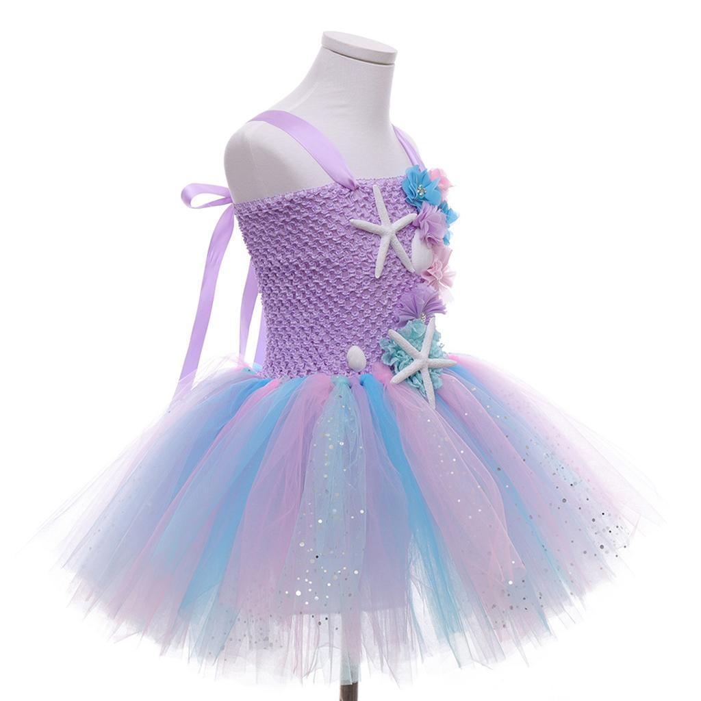 thumbnail 37 - Kids Baby Starfish Girls Party Sequins Dress Wedding Bridesmaid Dresses Princess