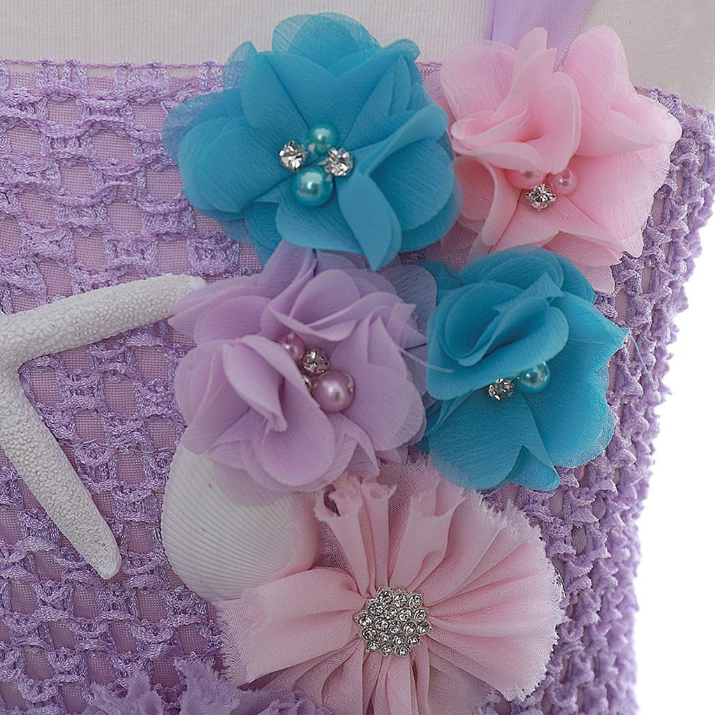 thumbnail 33 - Little Girls Layered Princess Costume Dress up with Hairband Accessories