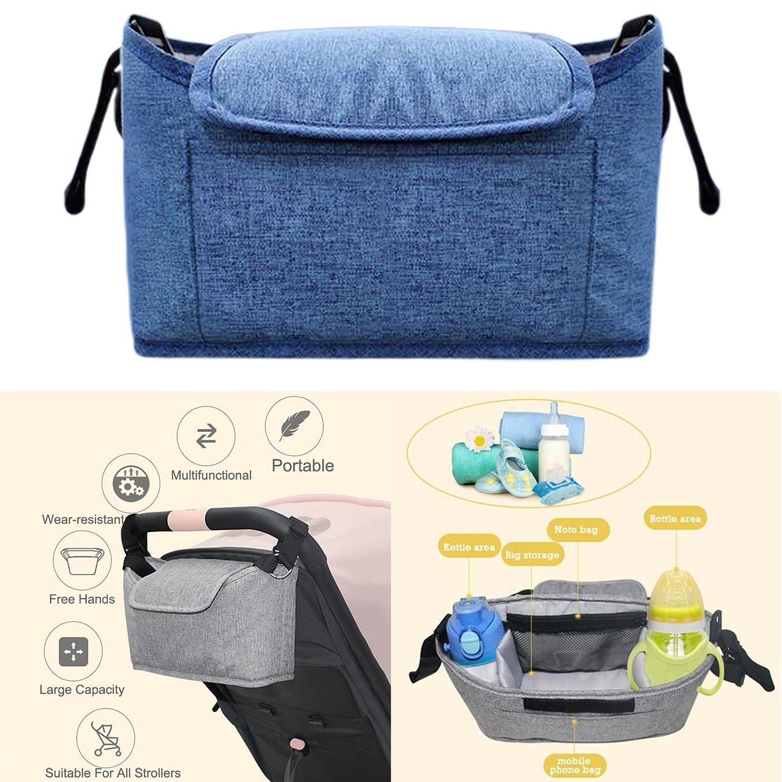 Sunveno Baby Stroller Organizer Easy Installation Secured Fit Extra Storage