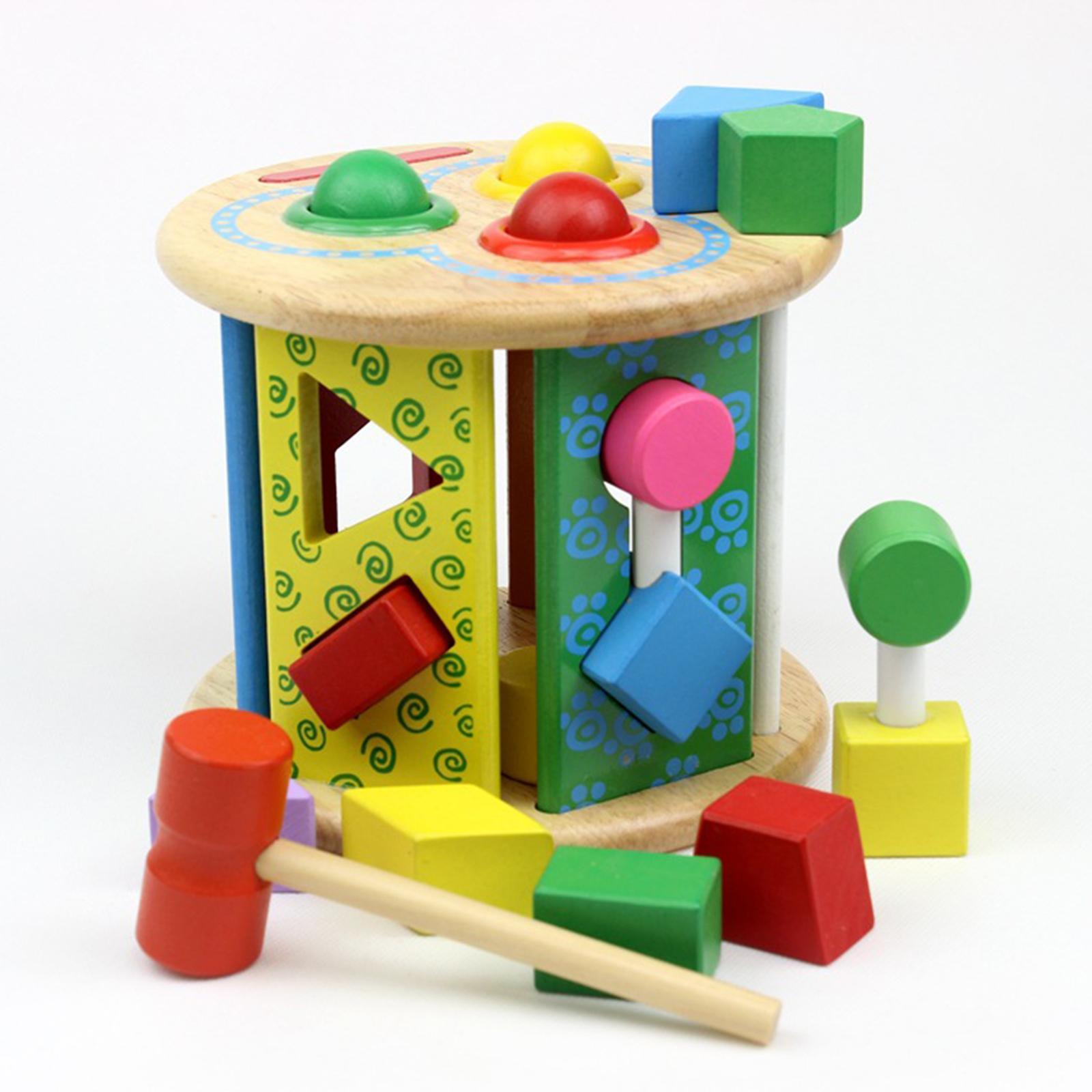 Kinder-Holzhammer-Spielzeug für 1-jährige Vorschule Frühes Lernspiel