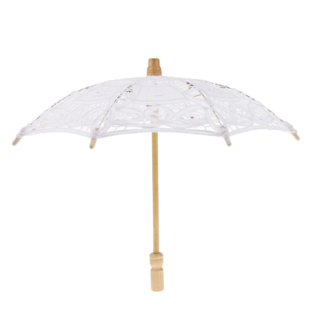 thumbnail 4 - Lace Flower Bridal Umbrella Embroidery Parasol for Dancing Photography Prop
