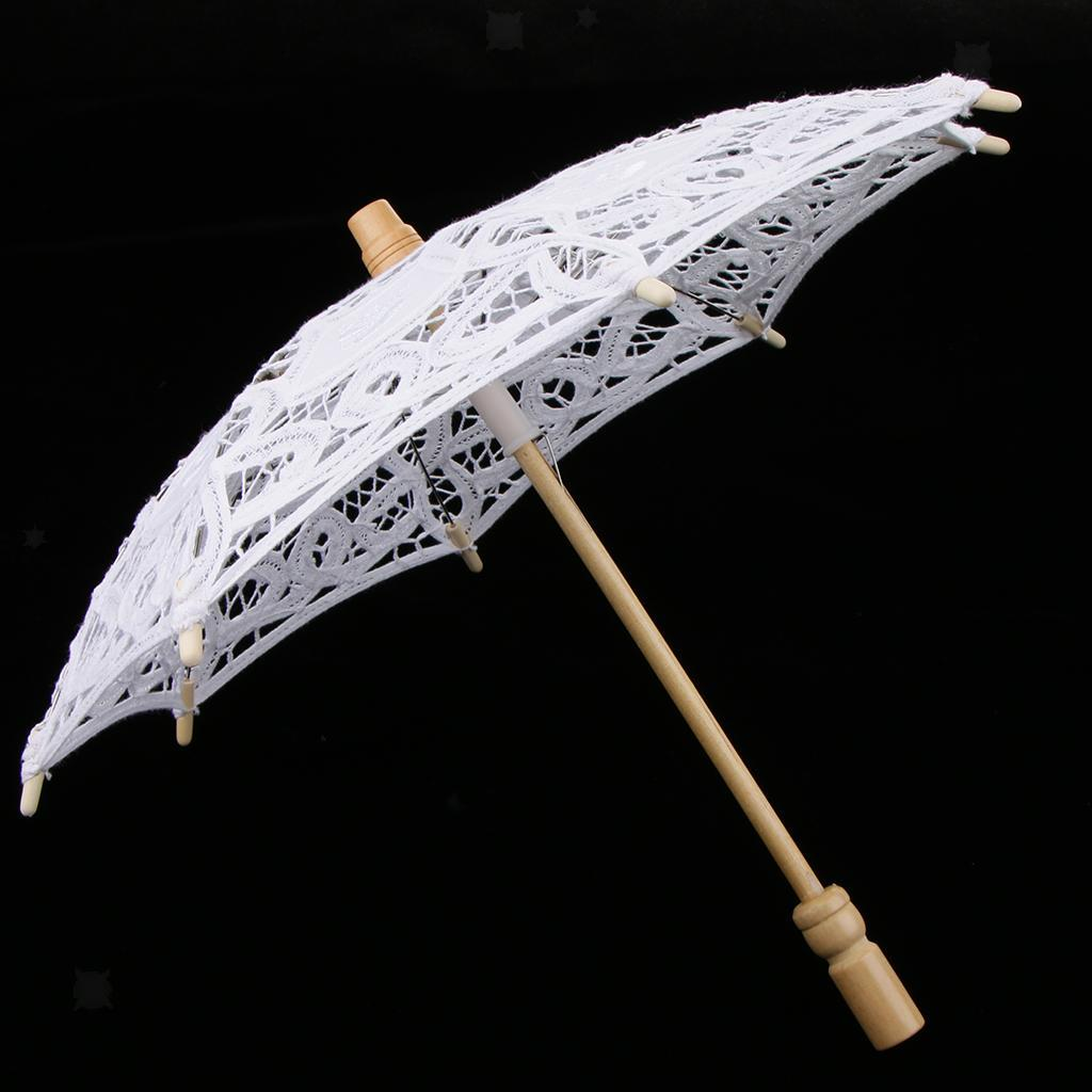 thumbnail 3 - Lace Flower Bridal Umbrella Embroidery Parasol for Dancing Photography Prop