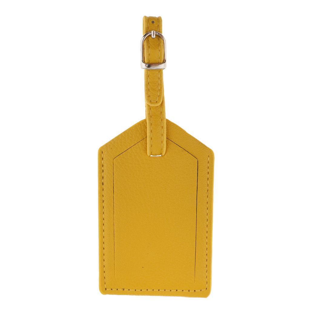 miniature 7 - Etiquette-De-Bagage-Valise-De-Voyage-En-PU-Cuir-D-039-identification
