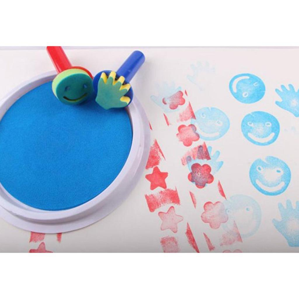 miniatura 4 - Guarnizione di Tamponi di Inchiostro per Bambini, per Uso con Dita, per