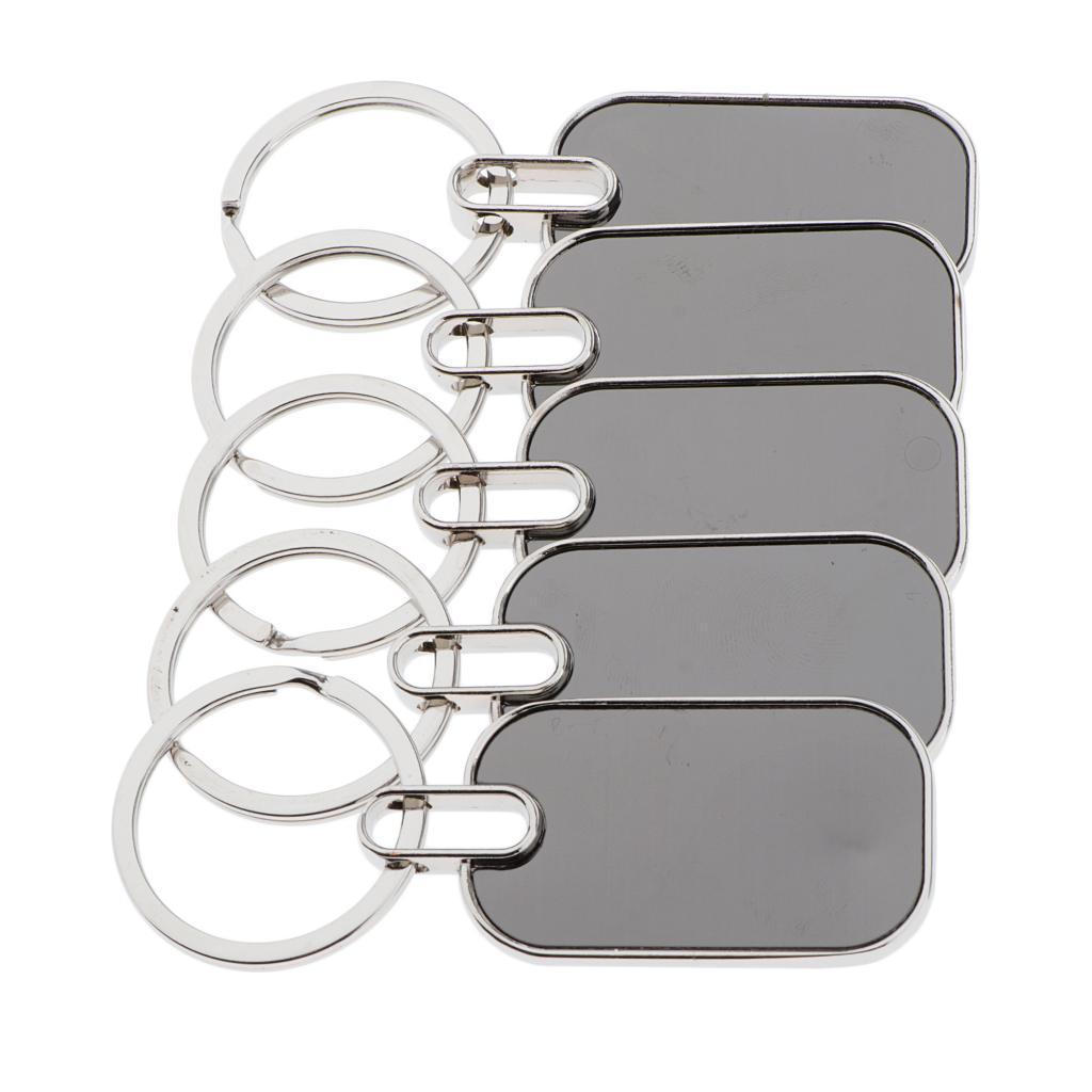5x-Key-Tags-Blank-ID-Fobs-Metal-Keyrings-Car-Keychain-Key-Ring-w-Split-Rings thumbnail 9