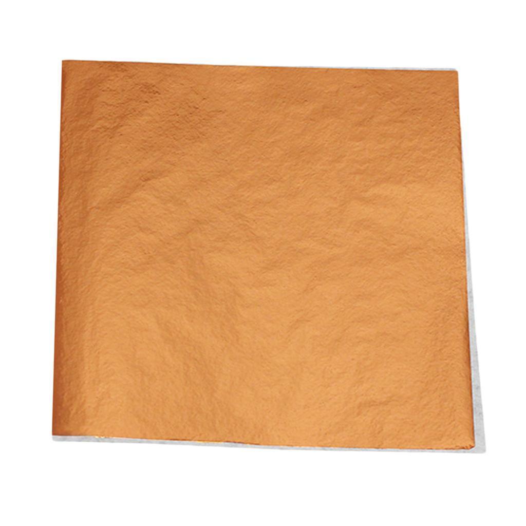 100sheets Imitation Gold Silver Leaf Foil Paper Gilding Art Craft 9x9cm