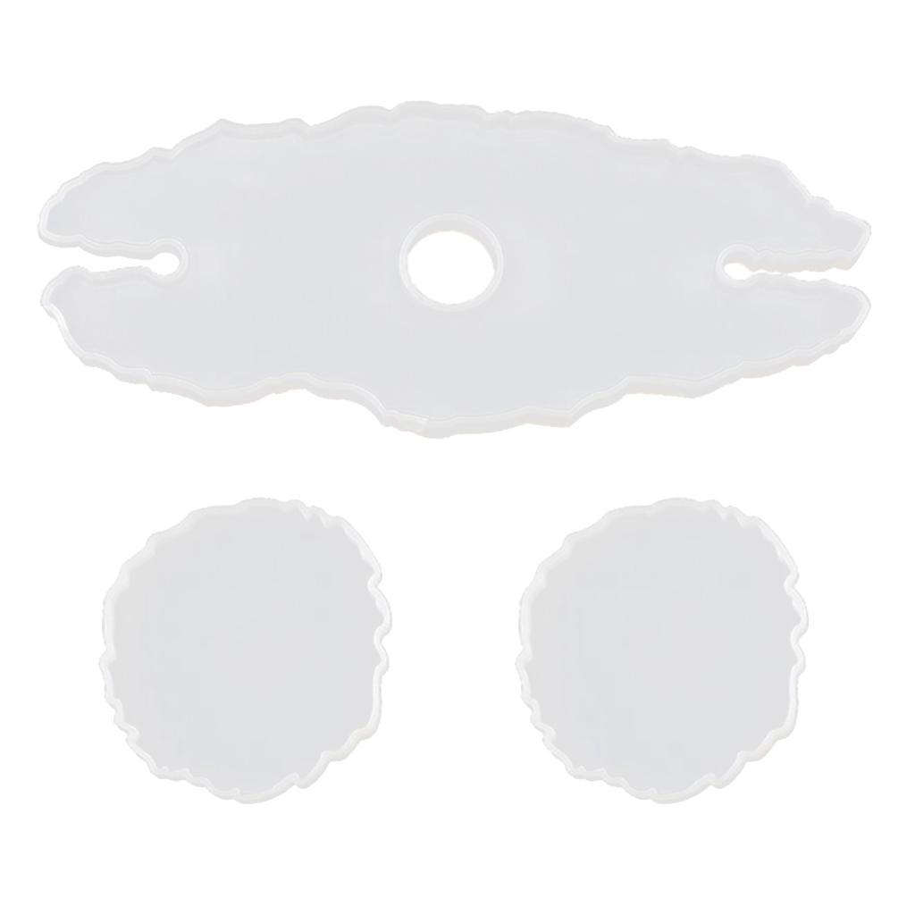 Indexbild 3 - Epoxidharz-Formen-DIY-Untersetzer-Silikonform-DIY-Giessform-fuer-DIY