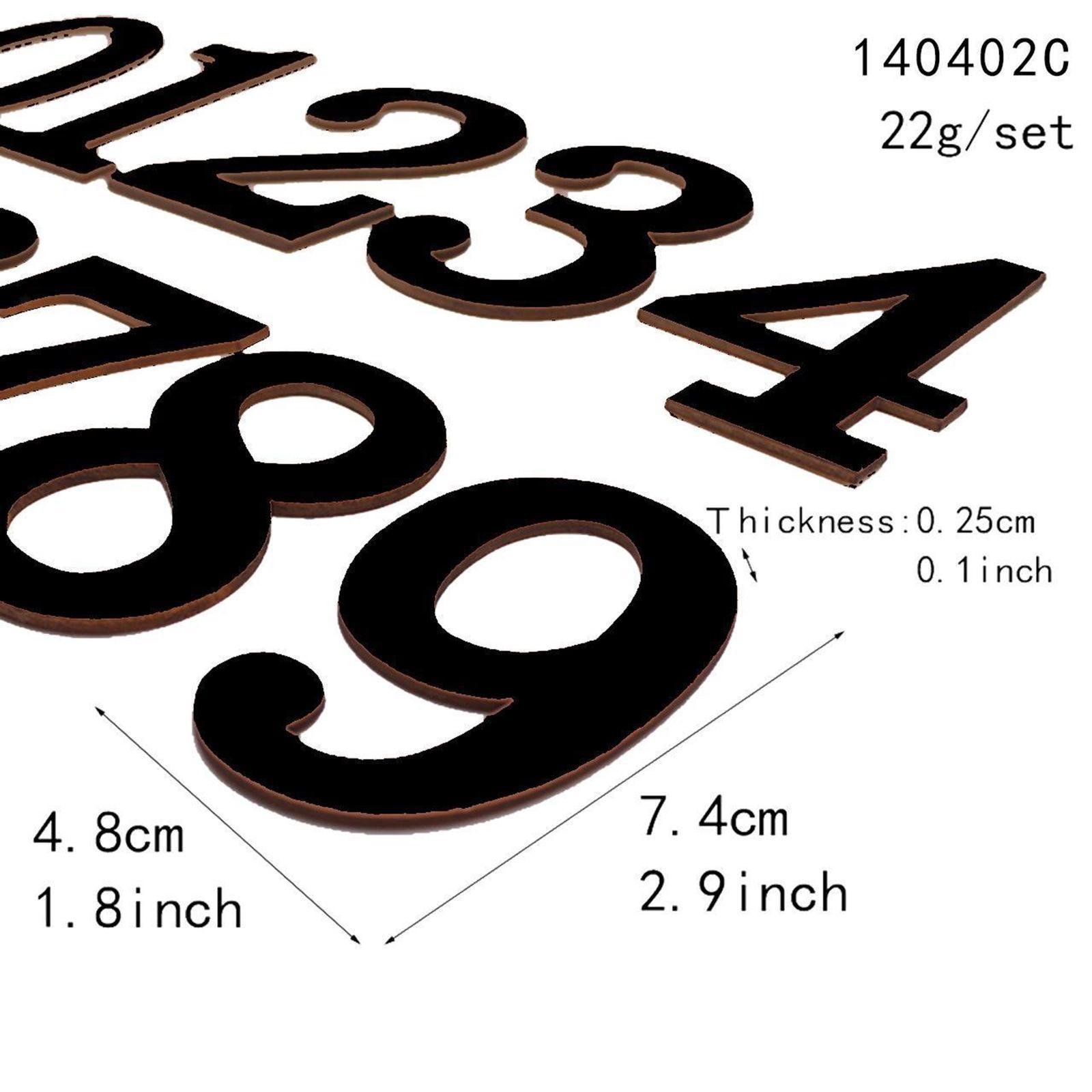 Indexbild 7 - 10-pcs-holz-nummern-nummer-0-bis-9-klebstoff-ziffern-holz-dekoration-handwerk