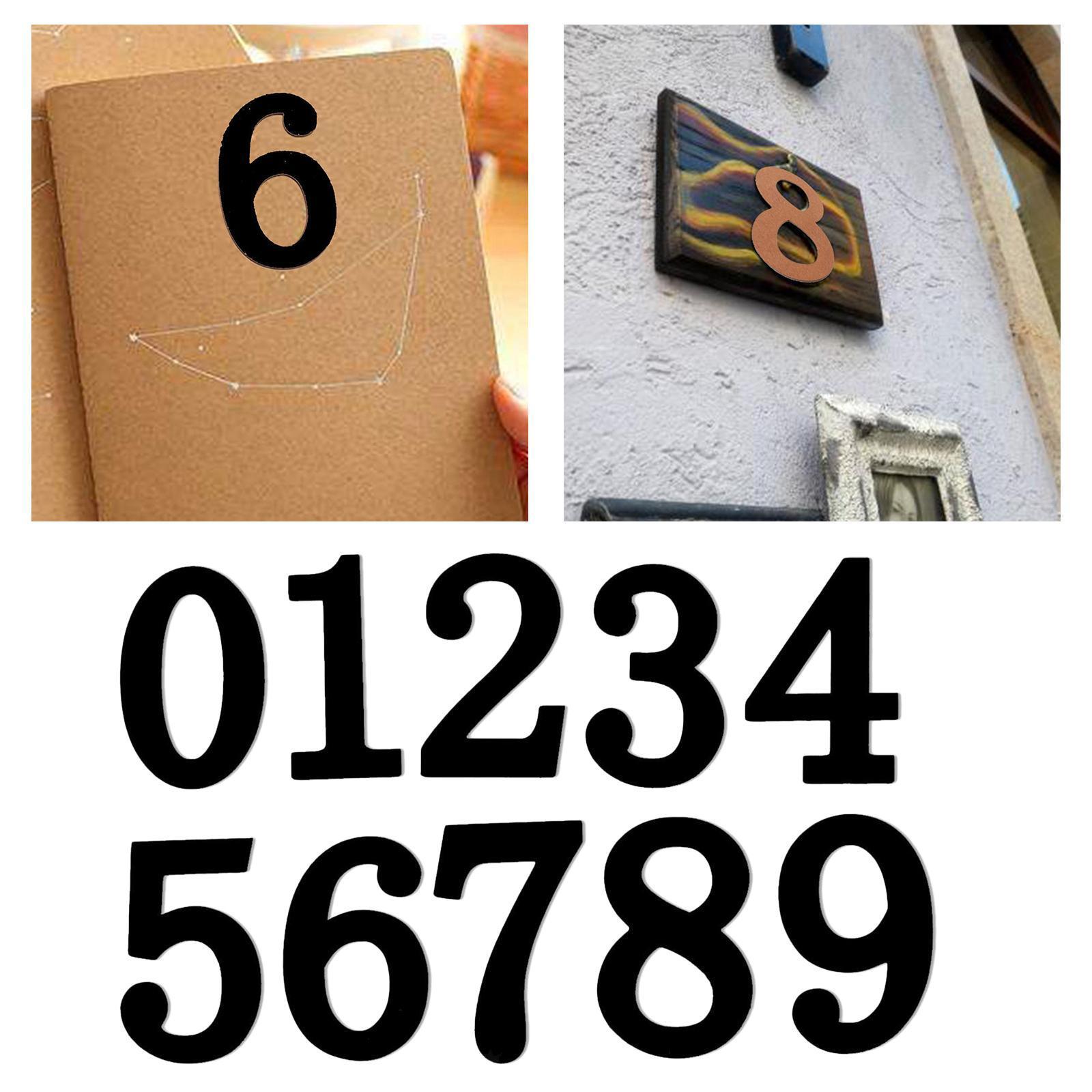 Indexbild 7 - 10-PCS-Holznummern-fuer-Heimwerker-Nummer-0-bis-9-Klebeziffern-Form-fuer