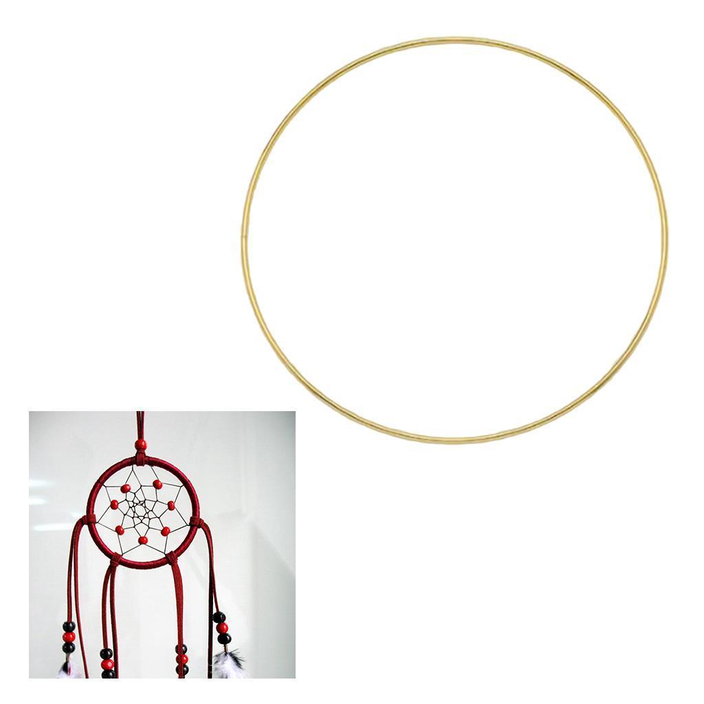 miniatura 5 - Anelli di metallo per Sogno Catchers Macrame Cerchi Mestiere Ruote