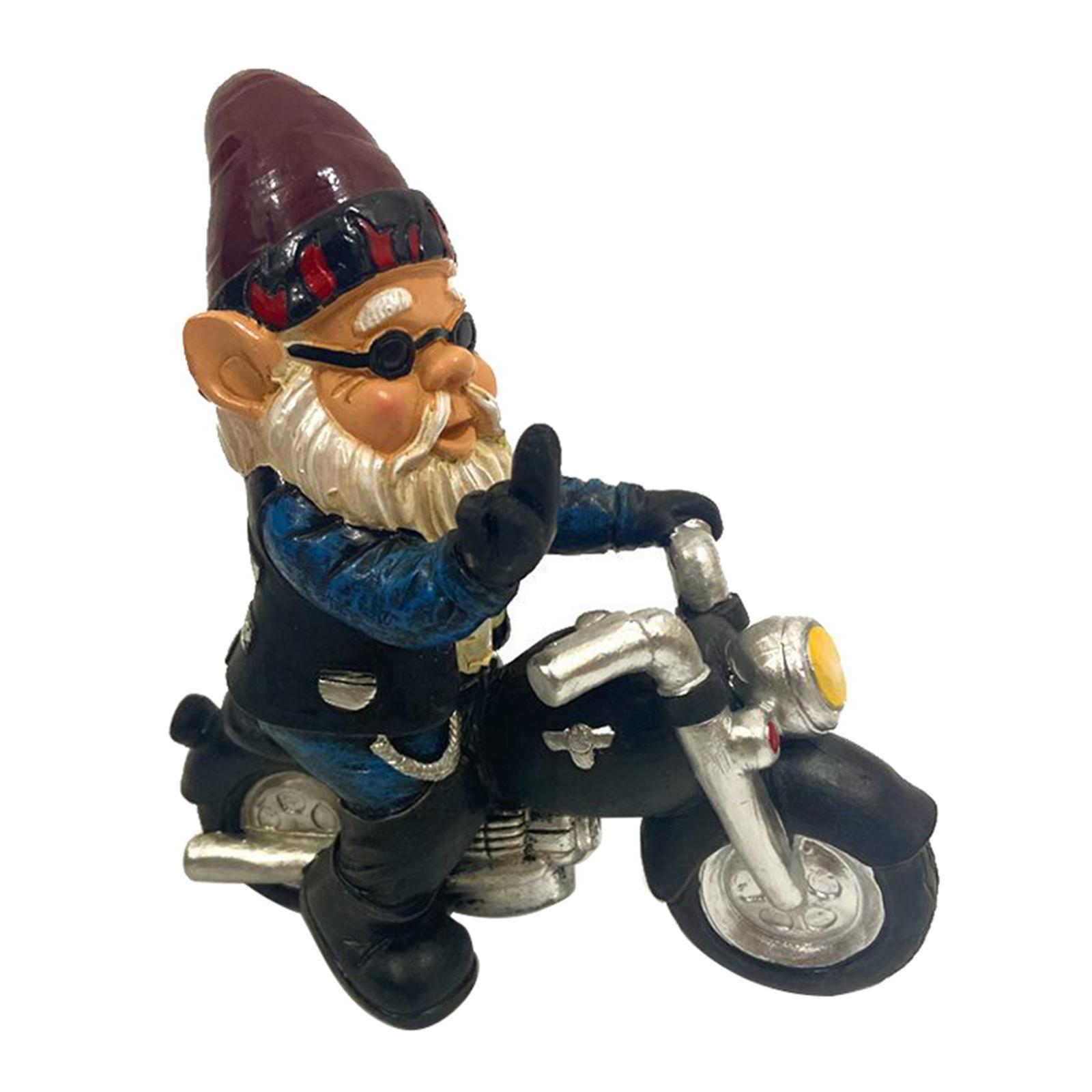 thumbnail 25 - Funny Resin Naughty Garden Gnome Statue Ornaments Villa Home Figurines