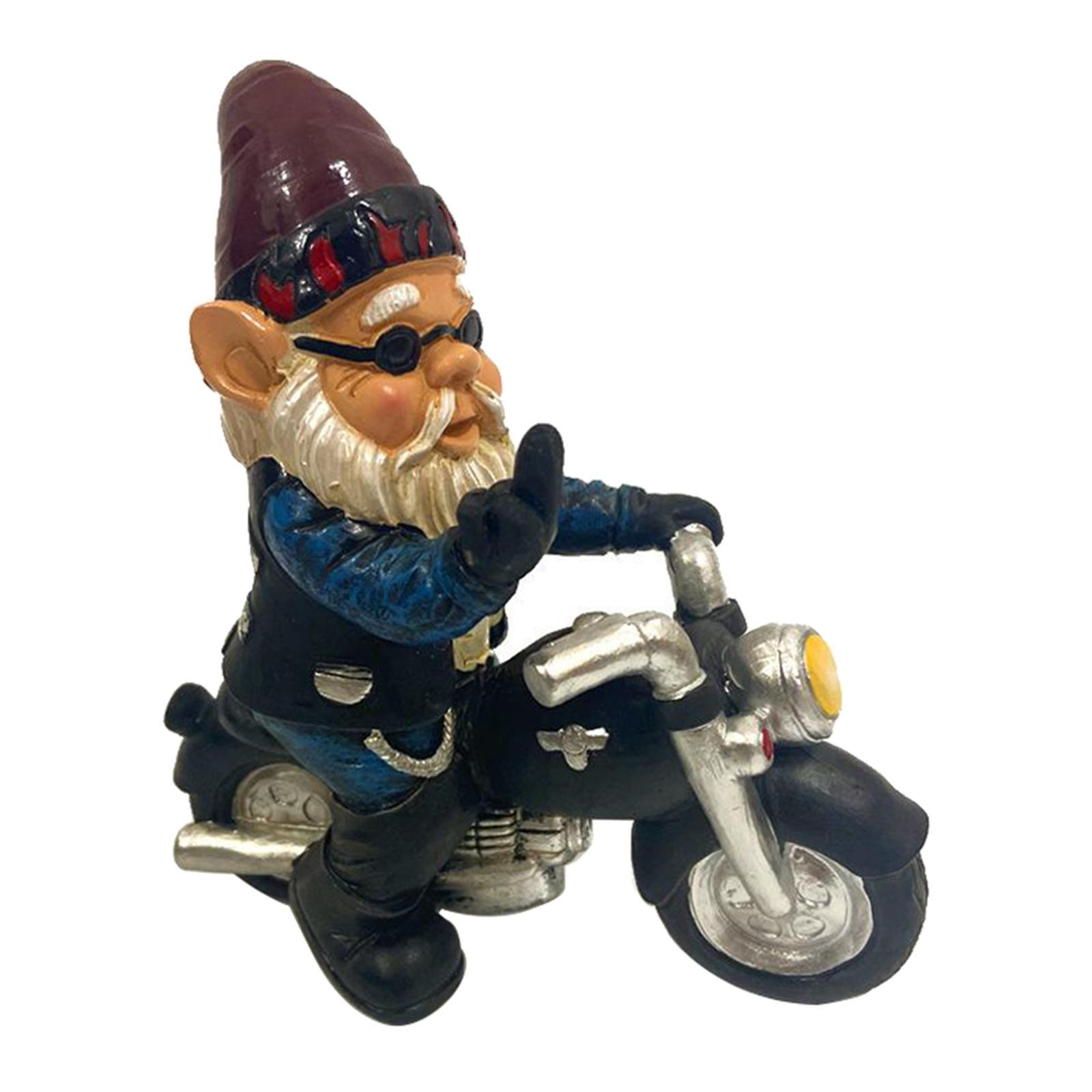 thumbnail 25 - Garden Gnome Statue Small Resin Lawn Gnome Scuplture Funny Indoor Outdoor Decor