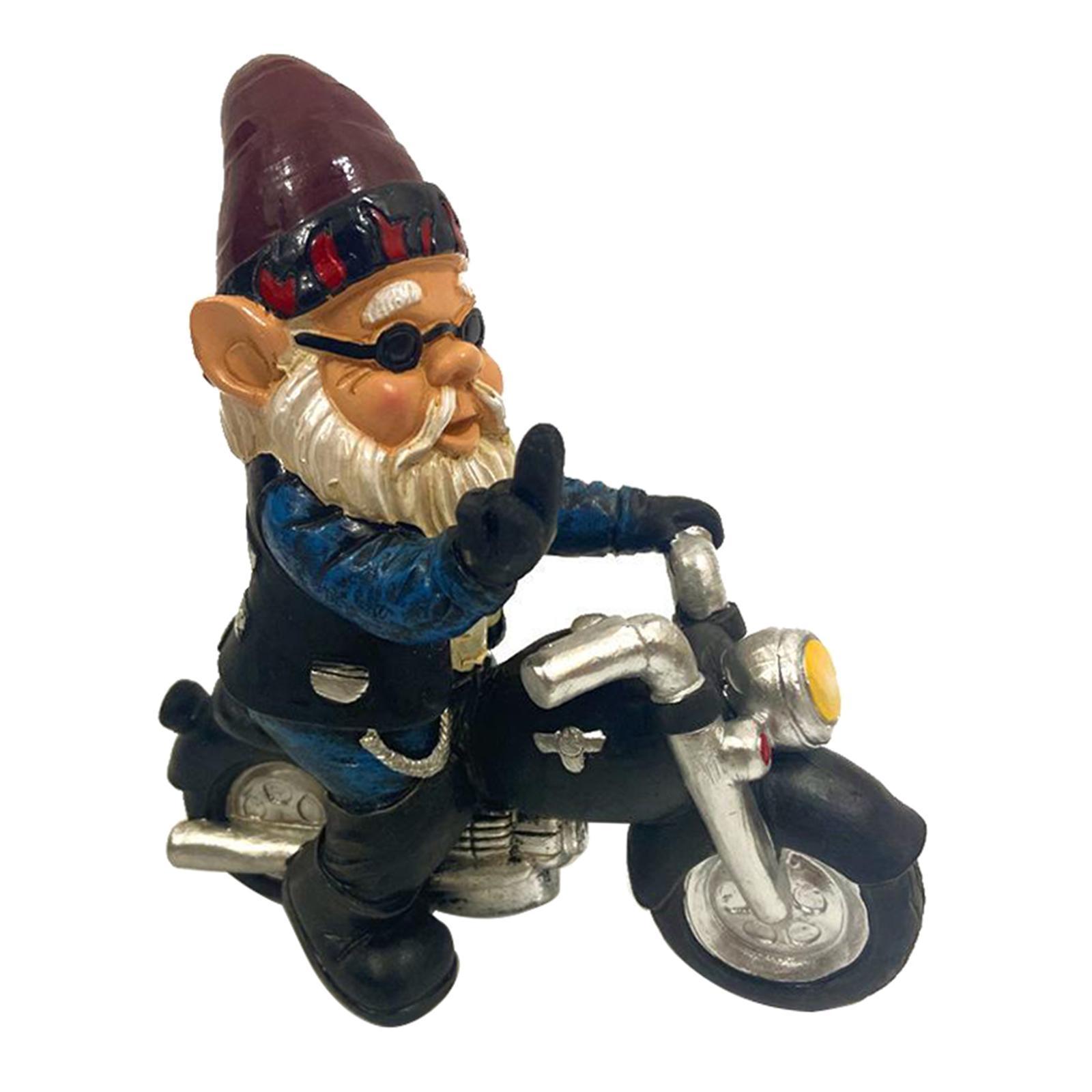 thumbnail 24 - Funny Resin Naughty Garden Gnome Statue Ornaments Outdoor Villa Home Figurines
