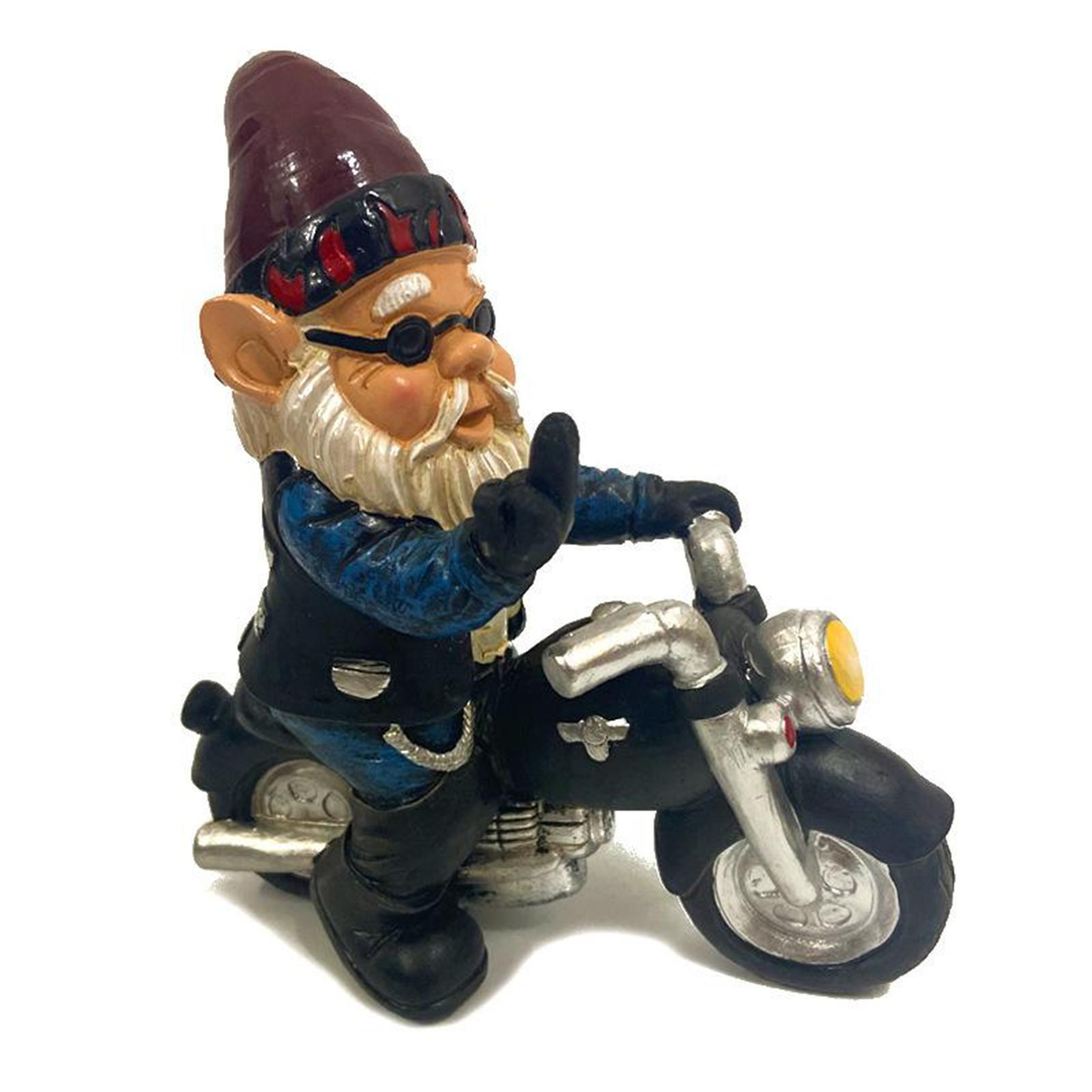 thumbnail 25 - Funny Resin Naughty Garden Gnome Statue Ornaments Villa Home Figurines Decor