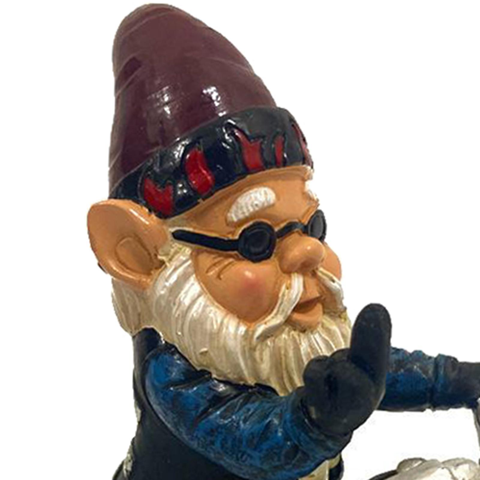 thumbnail 25 - Garden Gnome Polyresin Garden Sculpture Outdoor/Indoor Decor Funny Lawn Figurine