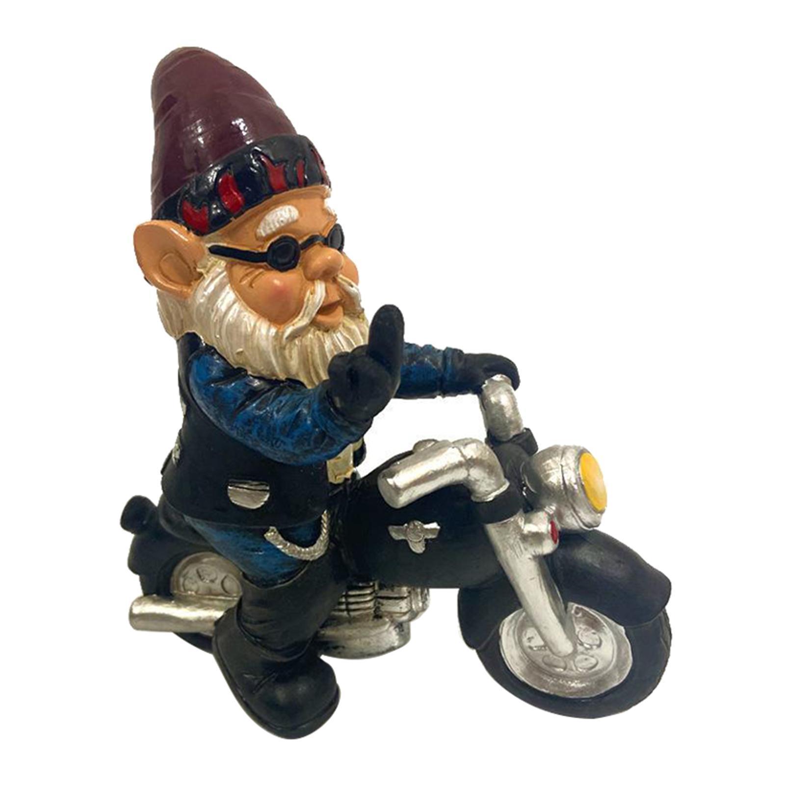 thumbnail 24 - Funny Resin Naughty Garden Gnome Statue Ornaments Villa Home Figurines Decor