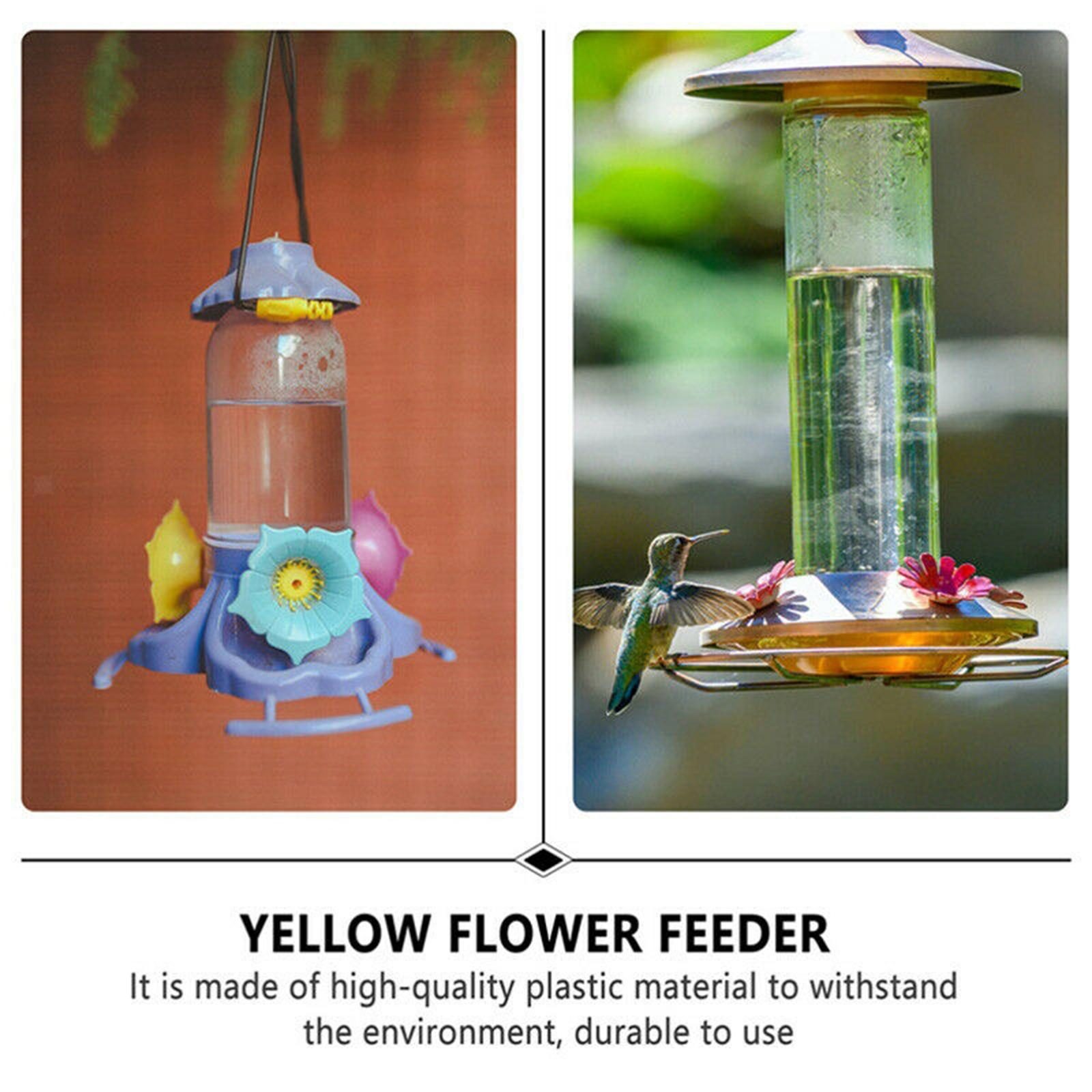 thumbnail 7 - Hanging hummingbird feeder replacement flower, feeding port, parts used supplies