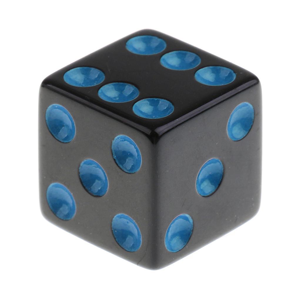 5pcs 16mm Opaque Six Sided Spot Dice Games D6 D/&D RPG Dark blue