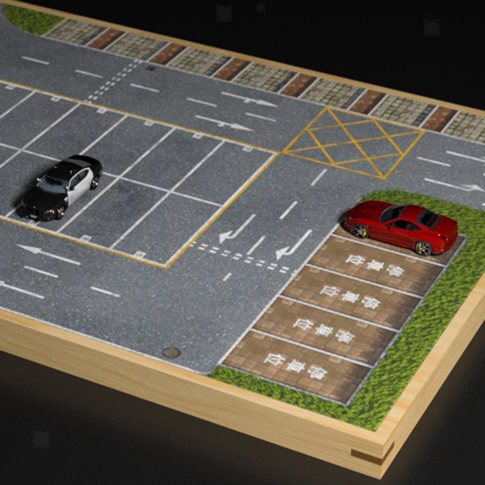 miniature 19 - En bois Diorama 1/64 Sol Parking Lot Scène pour Alliage Jouet De Voiture