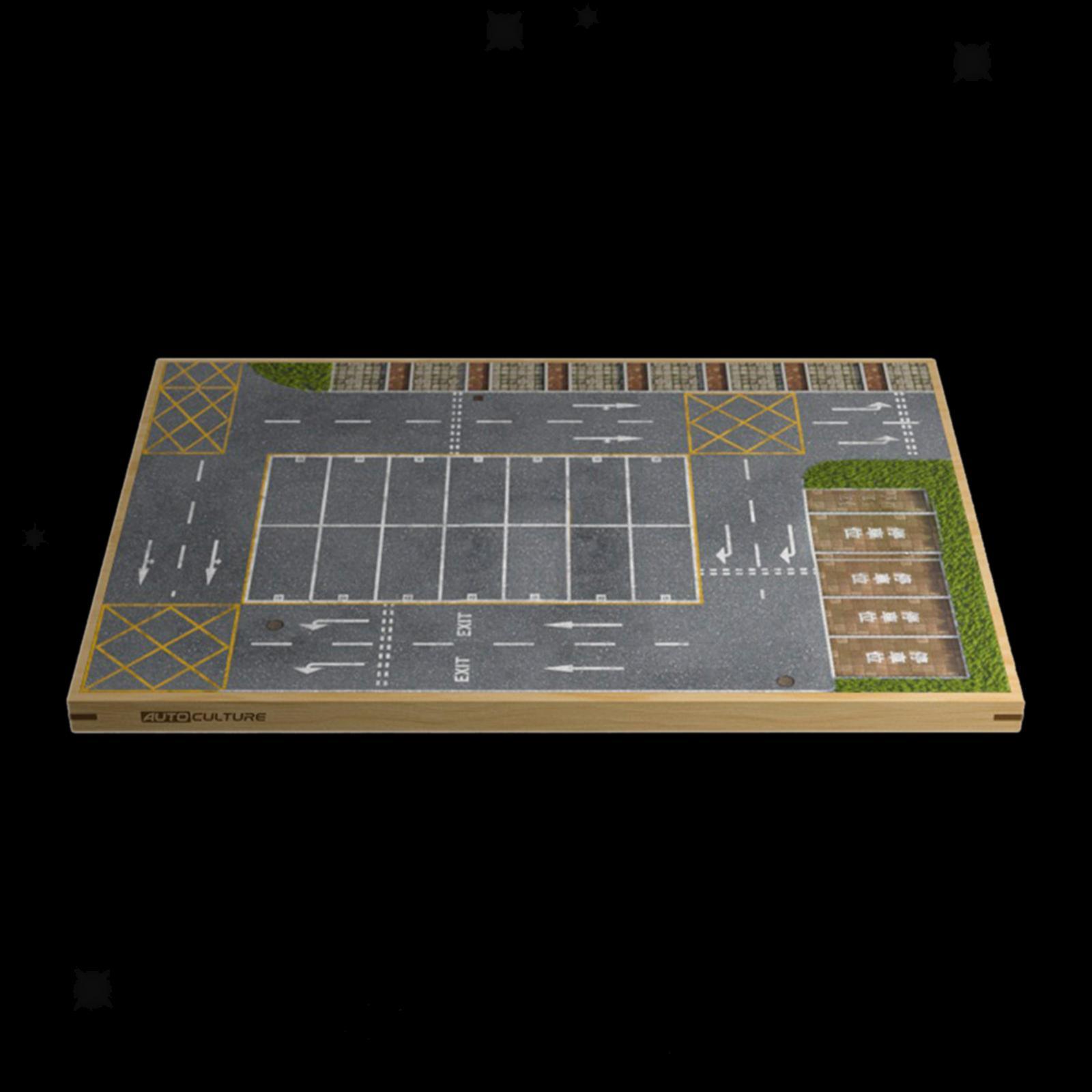 miniature 15 - En bois Diorama 1/64 Sol Parking Lot Scène pour Alliage Jouet De Voiture