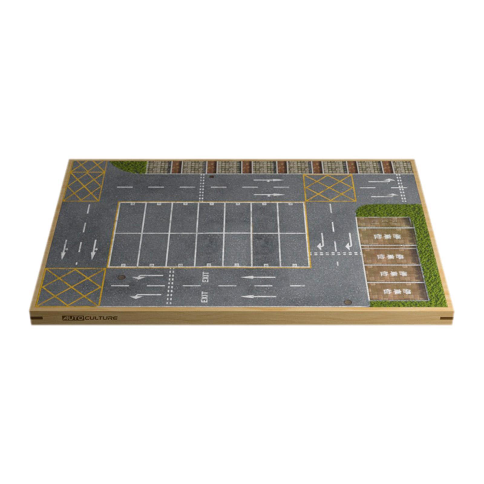 miniature 13 - En bois Diorama 1/64 Sol Parking Lot Scène pour Alliage Jouet De Voiture