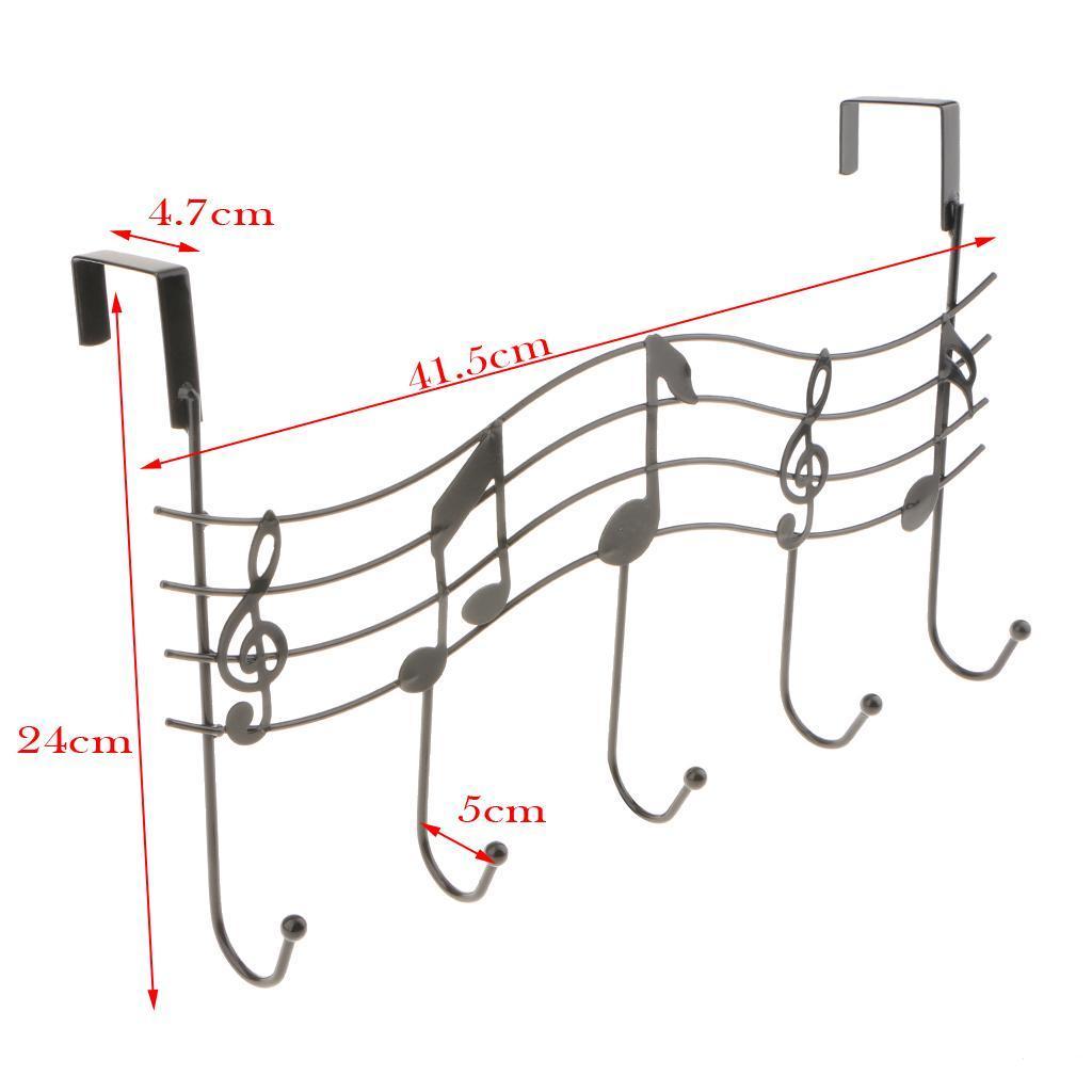 robusto-gancio-a-5-ganci-sopra-la-porta-gancio-gancio-lavanderia-organizer miniatura 4