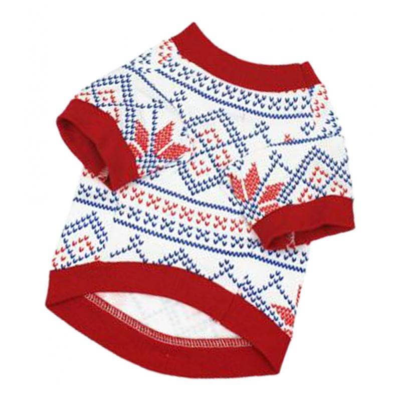 Dog-T-Shirt-Winter-Warm-Unisex-Christmas-Theme-Pet-Clothes-Apparel-S-M-L thumbnail 12