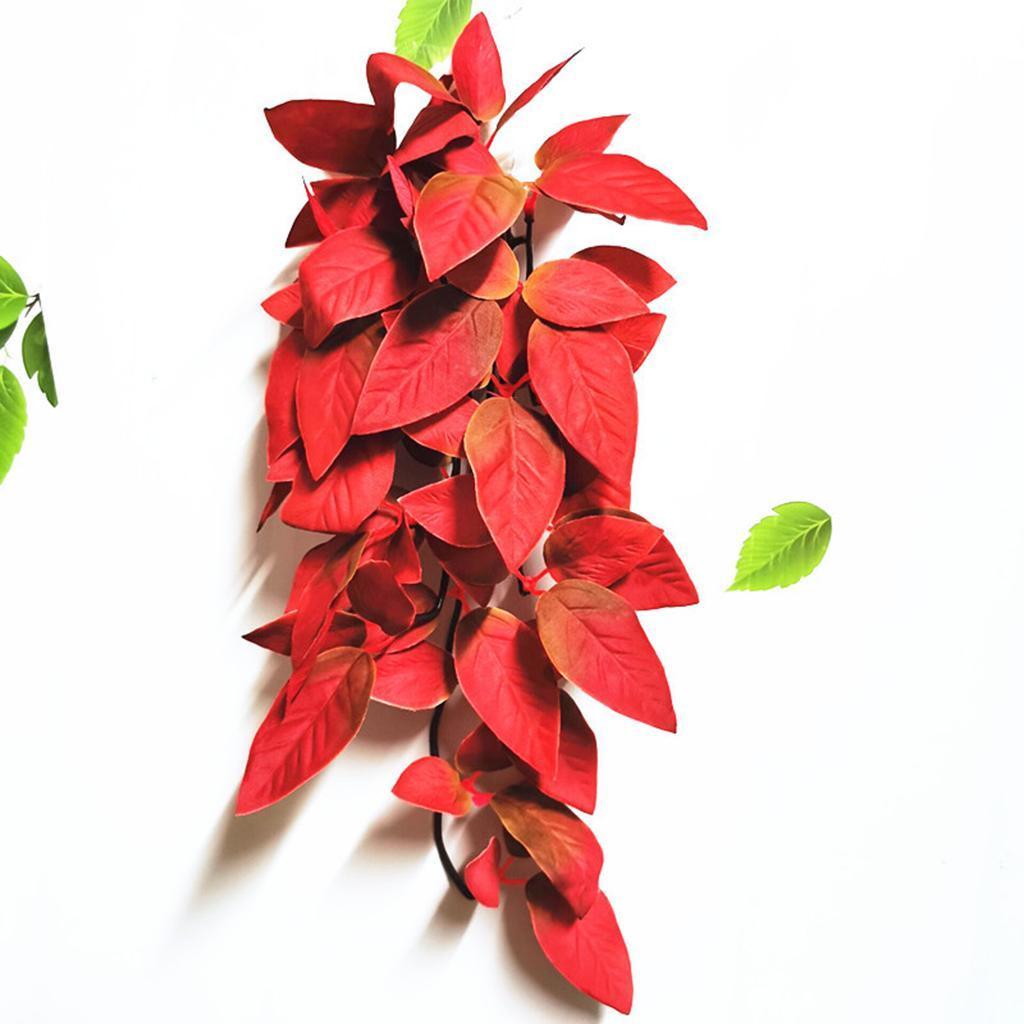 Reptile-Plantes-Plastique-terrarium-feuilles-d-039-aspiration-pour-Lezards-Geckos-serpent miniature 4