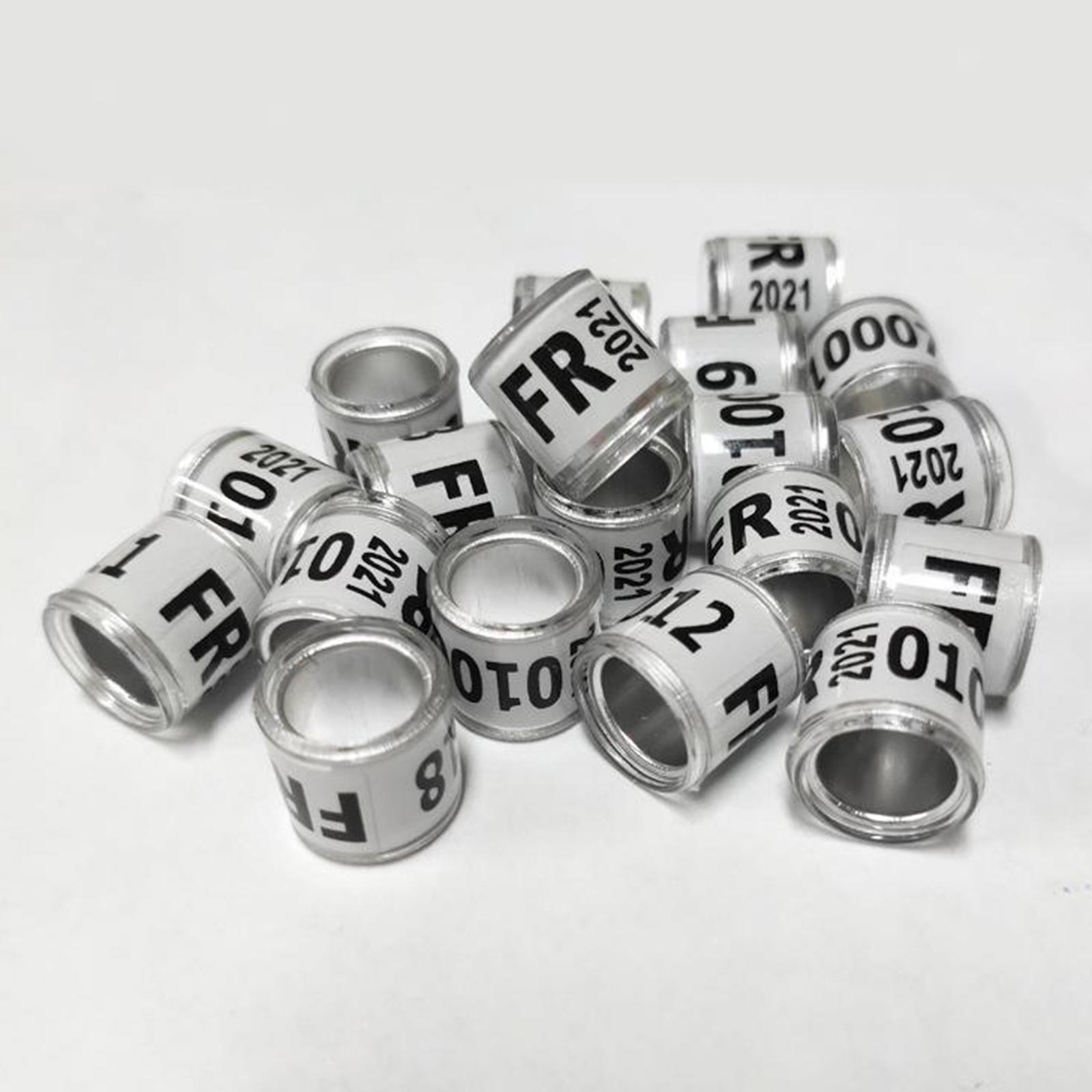 Indexbild 4 - Set von 100 2021 aluminium-renn tauben bänder bänder wieder verwendbar für
