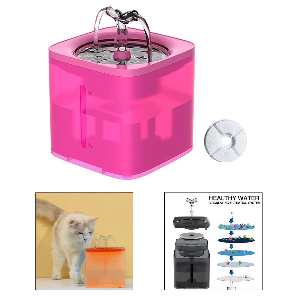 miniature 30 - 2L Chat Électrique Automatique Fontaine D'eau Potable Distributeur Bol USB