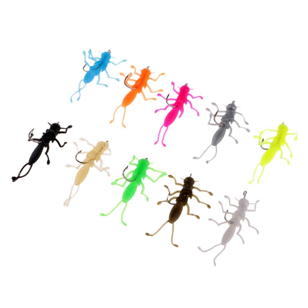 1 Stk Zikade Kunstköder mit Haken Insekten Fliegenbinder Künstliche Harte Köder
