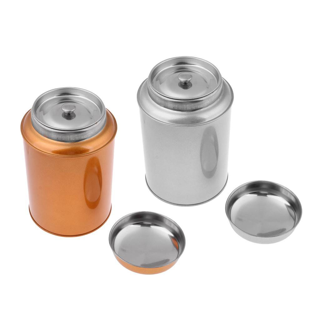 3 x Stainless Steel Silver Tea Coffee Sugar Kitchen Storage Canister Jar Pot Set