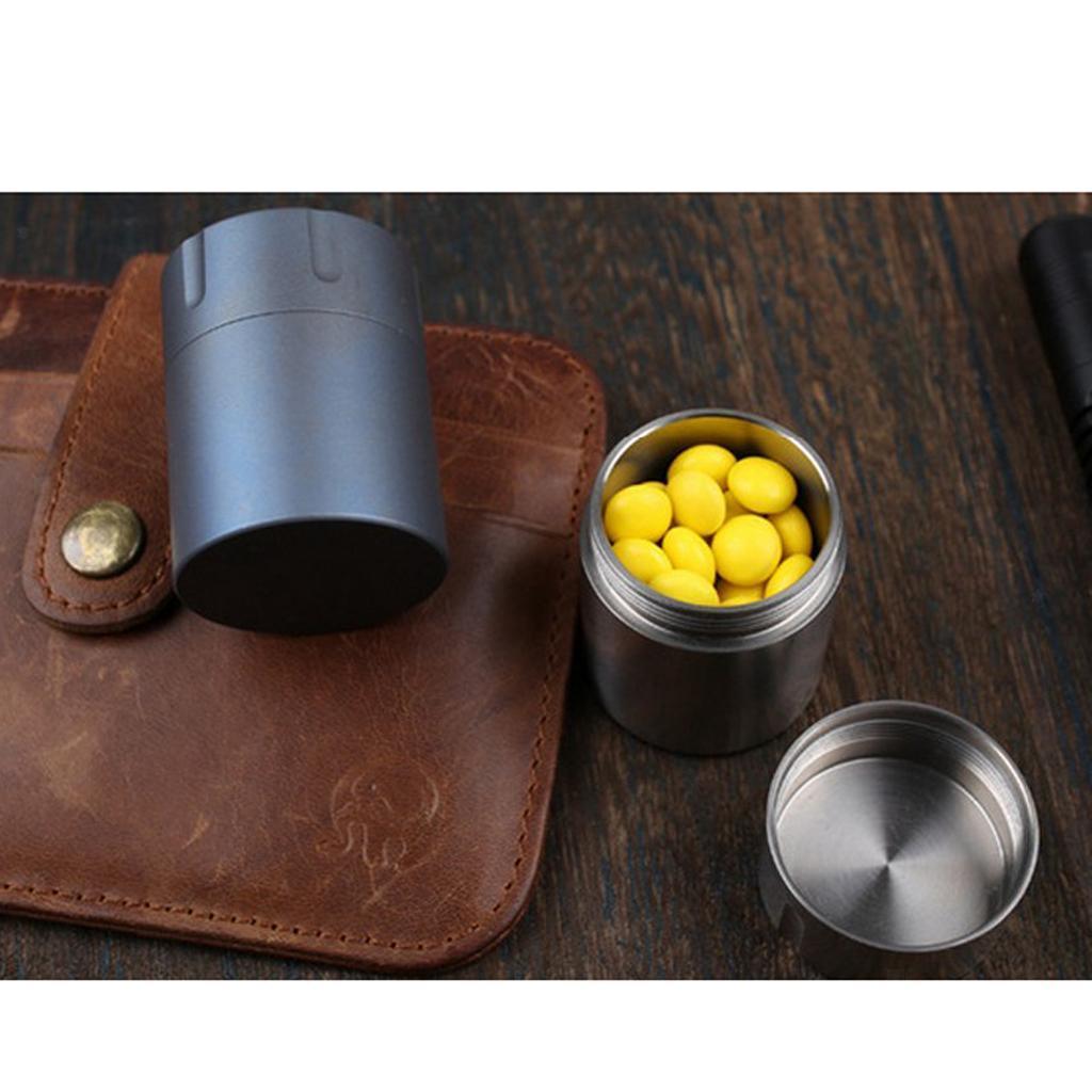 Titanium-Survival-Waterproof-Capsule-Pill-Case-Box-Tablets-Storage-Container thumbnail 14