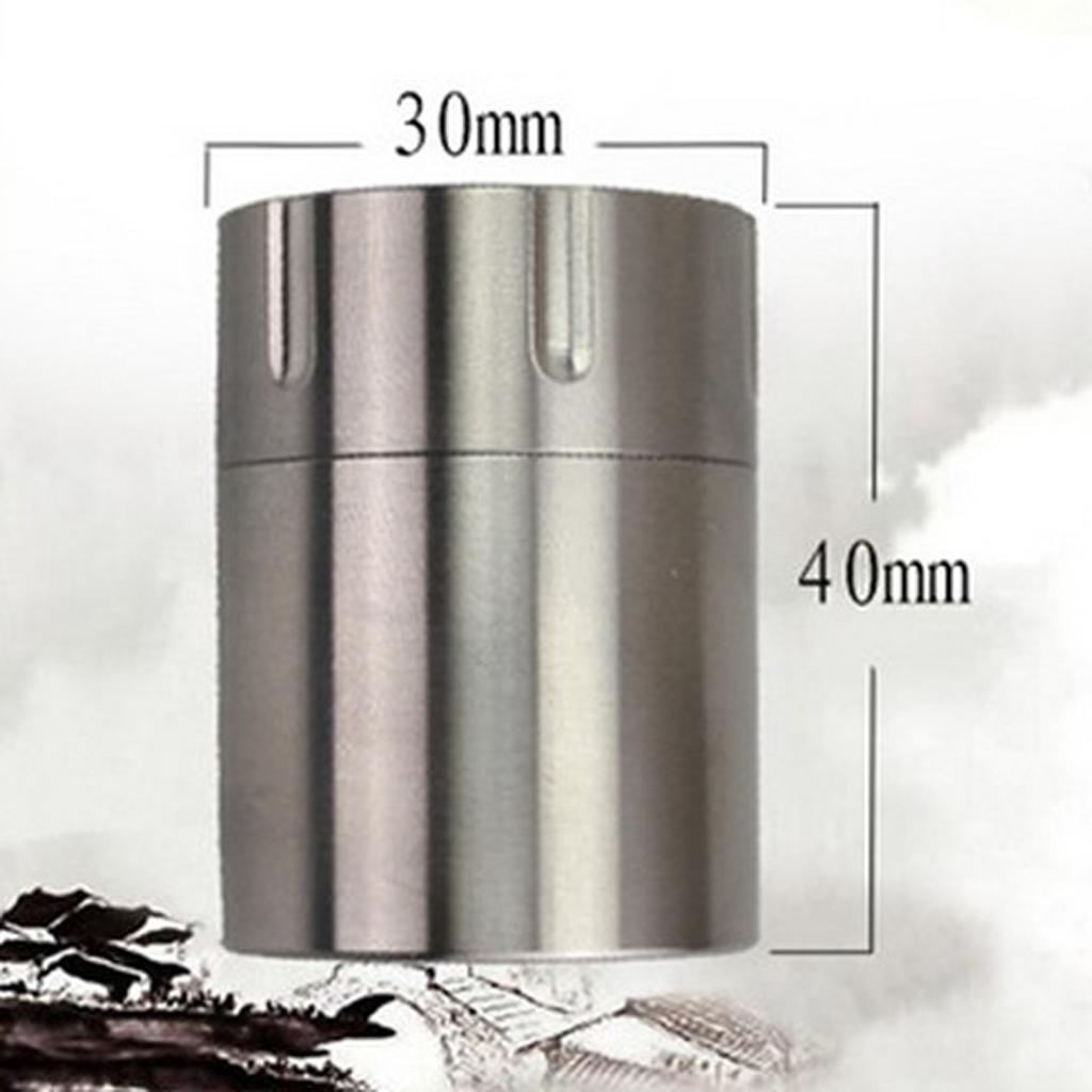 Titanium-Survival-Waterproof-Capsule-Pill-Case-Box-Tablets-Storage-Container thumbnail 10